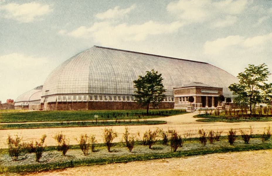 Souvenir of Chicago in Colors - New Conservatory, Garfield Park (1910)