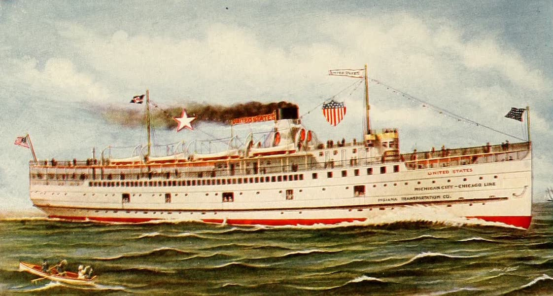 Souvenir of Chicago in Colors - Steamship 'United States' (1910)