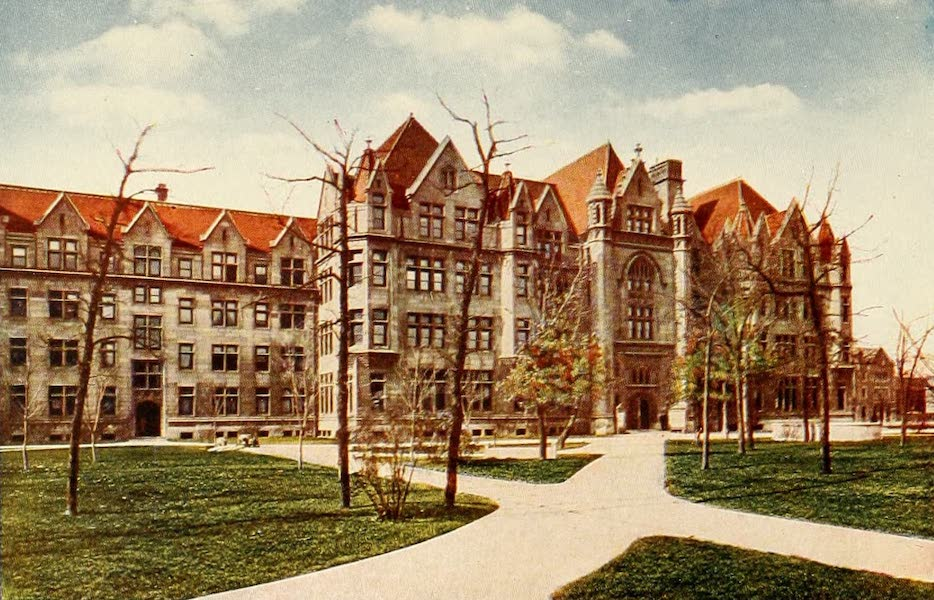 Souvenir of Chicago in Colors - Cobb Lecture Hall (1910)