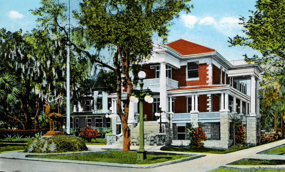 Souvenir of Daytona and Daytona Beach, Florida - Elks Home, Daytona (1917)