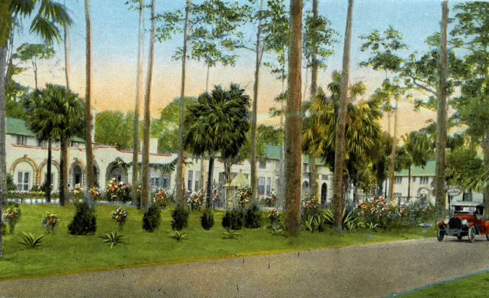 Souvenir of Daytona and Daytona Beach, Florida - Partial View of the Osceola - Gramatan Hotel, Daytona (1917)
