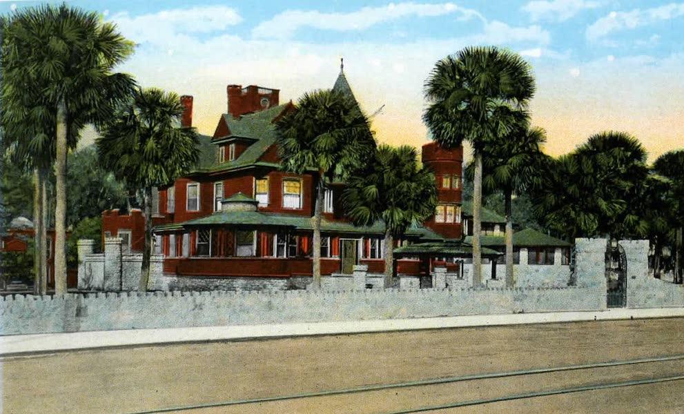 Souvenir of Daytona and Daytona Beach, Florida - The Burgoyne Mansion, Daytona (1917)