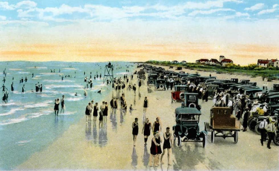 Souvenir of Daytona and Daytona Beach, Florida - Winter Bathing at Daytona Beach (1917)