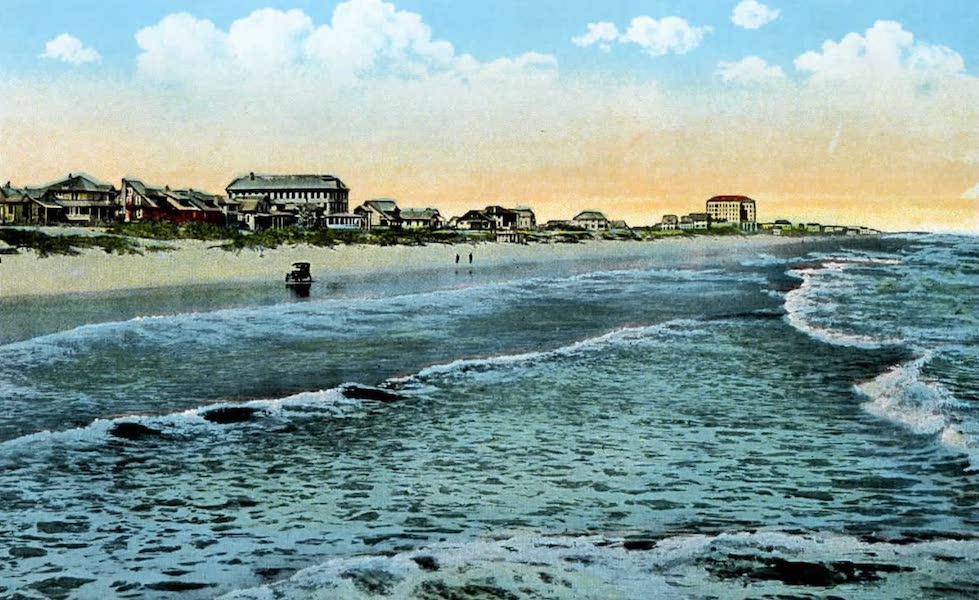 Souvenir of Daytona and Daytona Beach, Florida - The Surf and Beach, showing Clarendon Hotel, Seabreeze (1917)