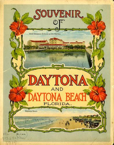 Chromolithography - Souvenir of Daytona and Daytona Beach, Florida