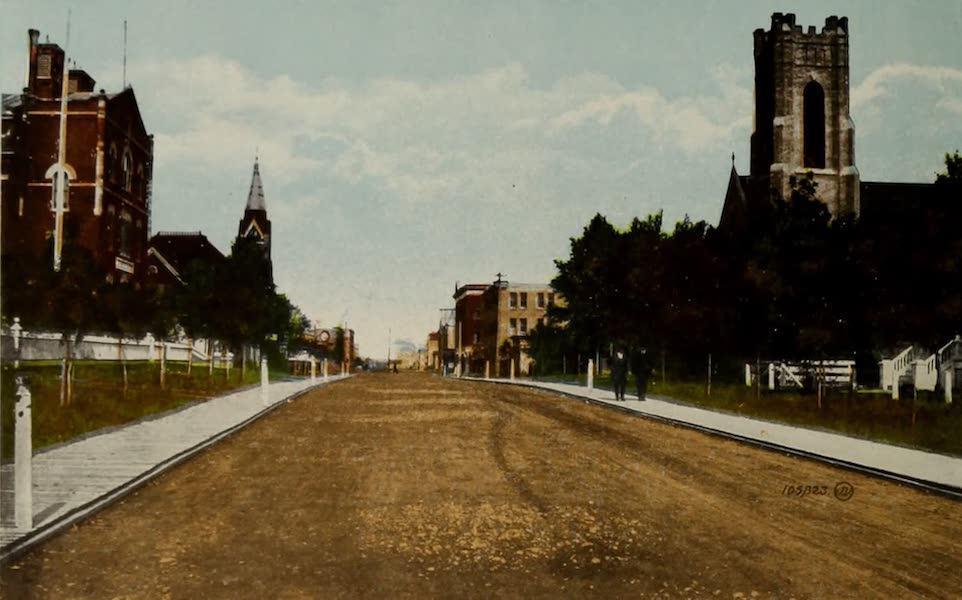 Souvenir of Edmonton, Alta. - Third Street (1910)