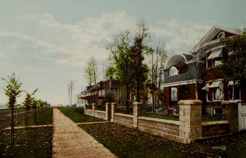 Souvenir of Edmonton, Alta. - Residential Section along the River Bank (1910)
