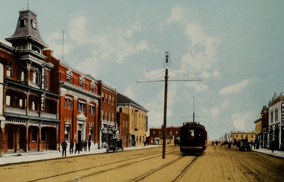 Souvenir of Edmonton, Alta. - Whyte Avenue, near C.P.R. Station, Edmonton South (1910)