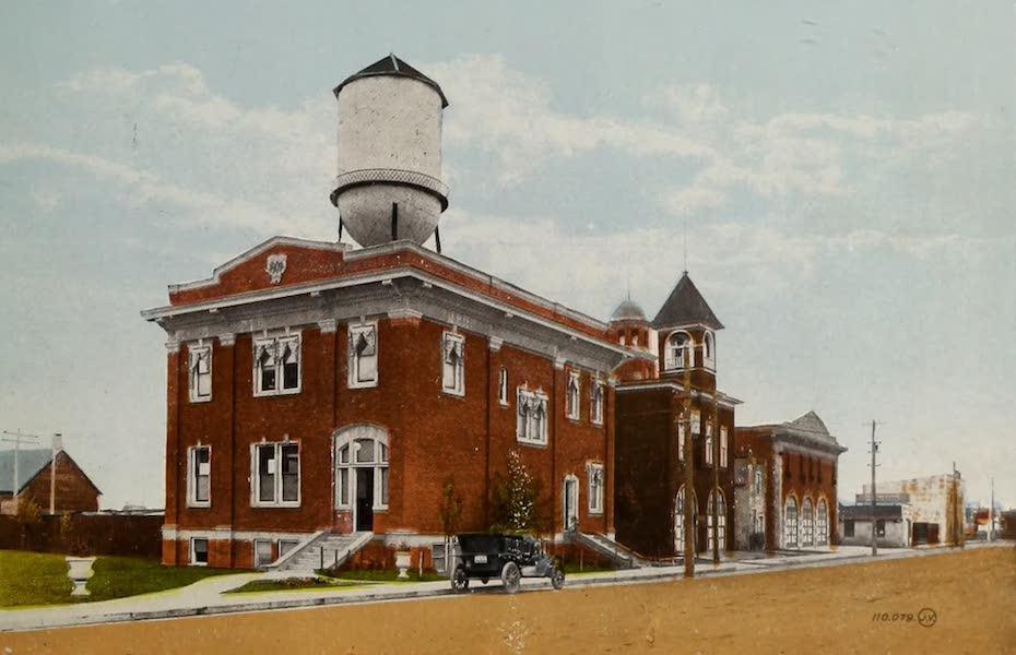Souvenir of Edmonton, Alta. - City Offices and Fire Hall, Edmonton South (1910)