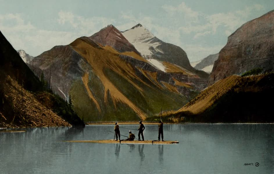 Souvenir of Edmonton, Alta. - Lake Helna, Mount Robson, Canadian Rockies, G.T.P. Route (1910)