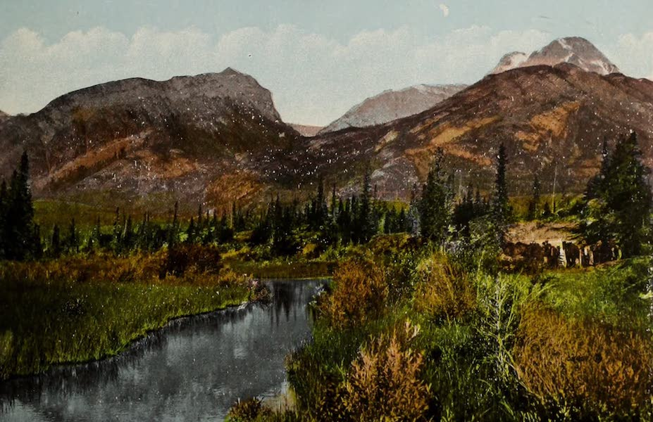 Souvenir of Edmonton, Alta. - Near Jasper Lake, Canadian Rockies, G.T.P. Route (1910)