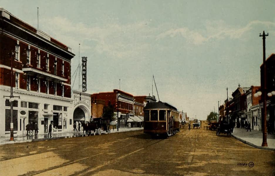 Souvenir of Lethbridge, Alta. - Main Street, looking North from Alexandra Hotel (1910)