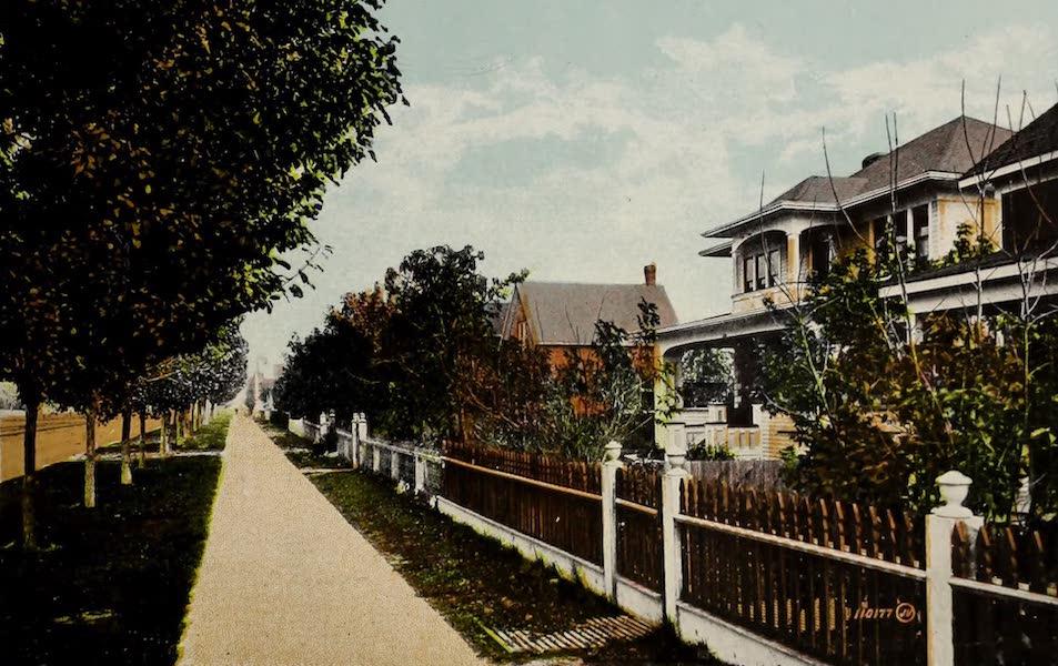 Souvenir of Lethbridge, Alta. - Residential View on Third Avenue (1910)