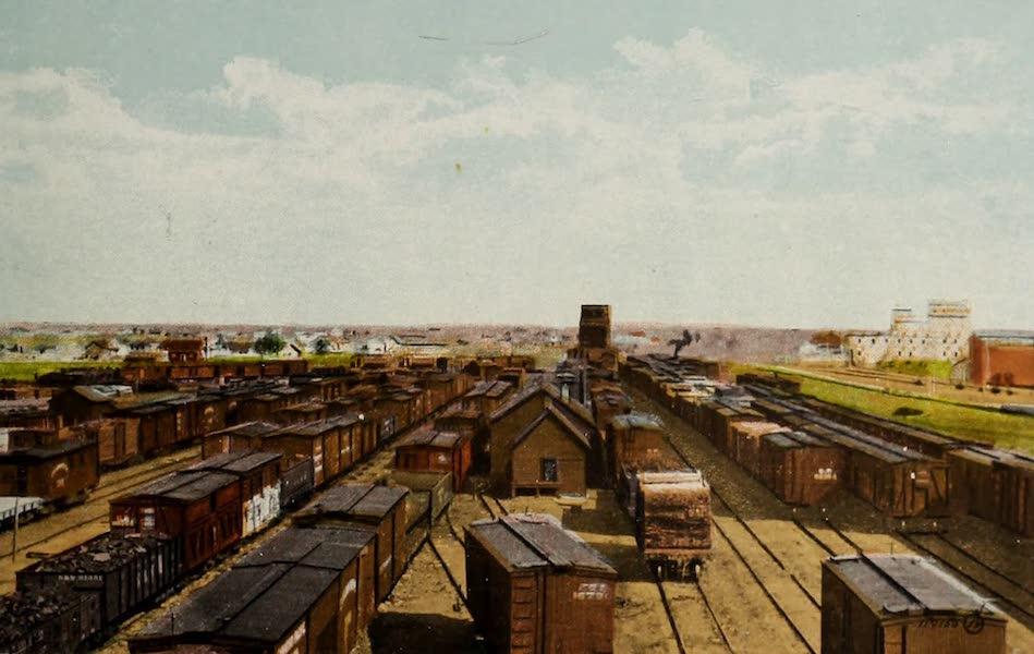 Souvenir of Lethbridge, Alta. - C.P.R. Freight Yards (1910)
