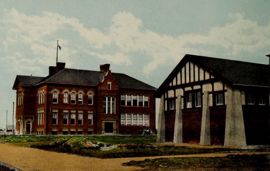 Souvenir of Lethbridge, Alta. - Westminister School, showing Manual Training Bldg. (1910)
