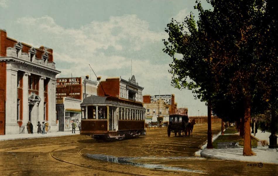 Souvenir of Lethbridge, Alta. - Main Street from Third Avenue (1910)