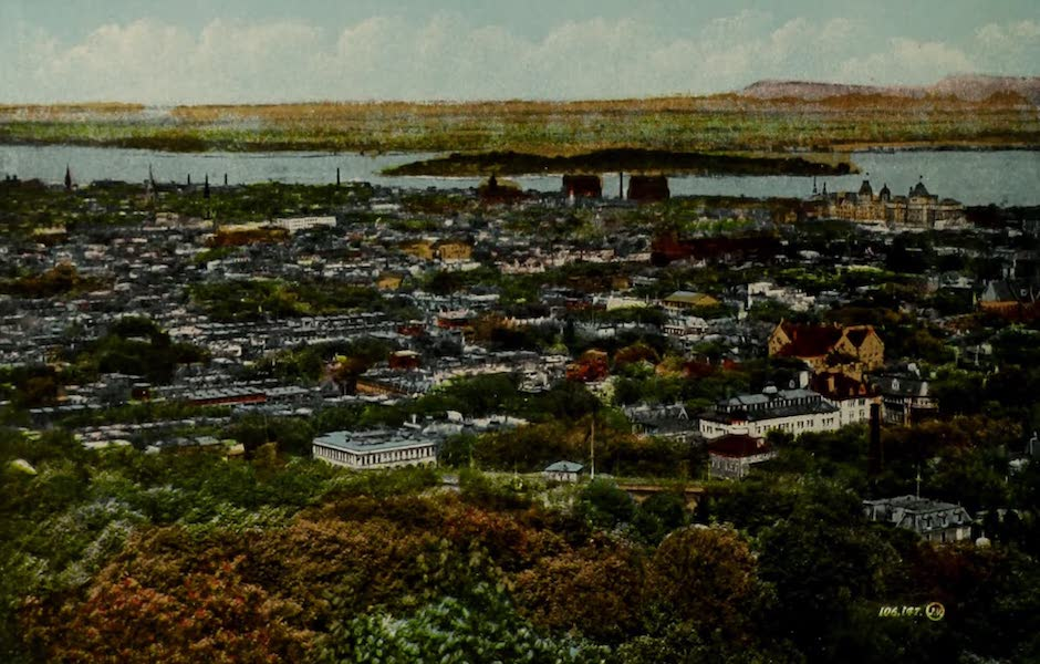 Souvenir of Montreal - Montreal from Mount Royal (1910)