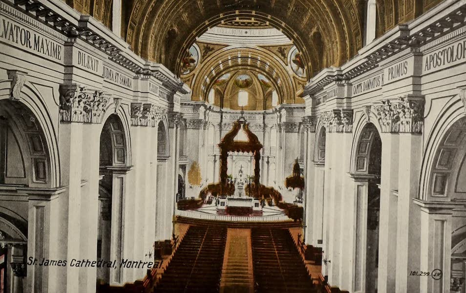 Souvenir of Montreal - Interior of St. James Cathedral (1910)