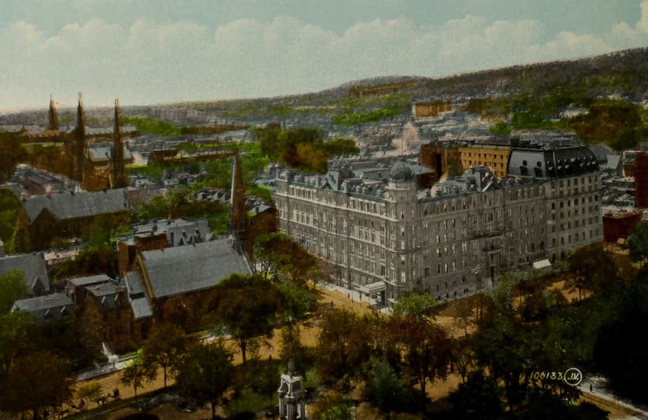 Souvenir of Montreal - General View looking West from St. James Cathedral (1910)