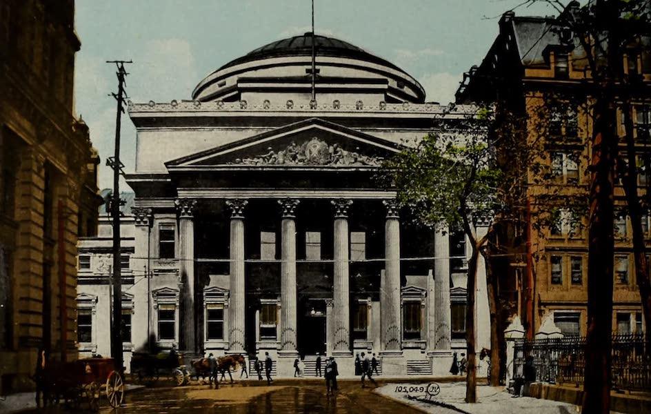 Souvenir of Montreal - Bank of Montreal, St. James Street (1910)