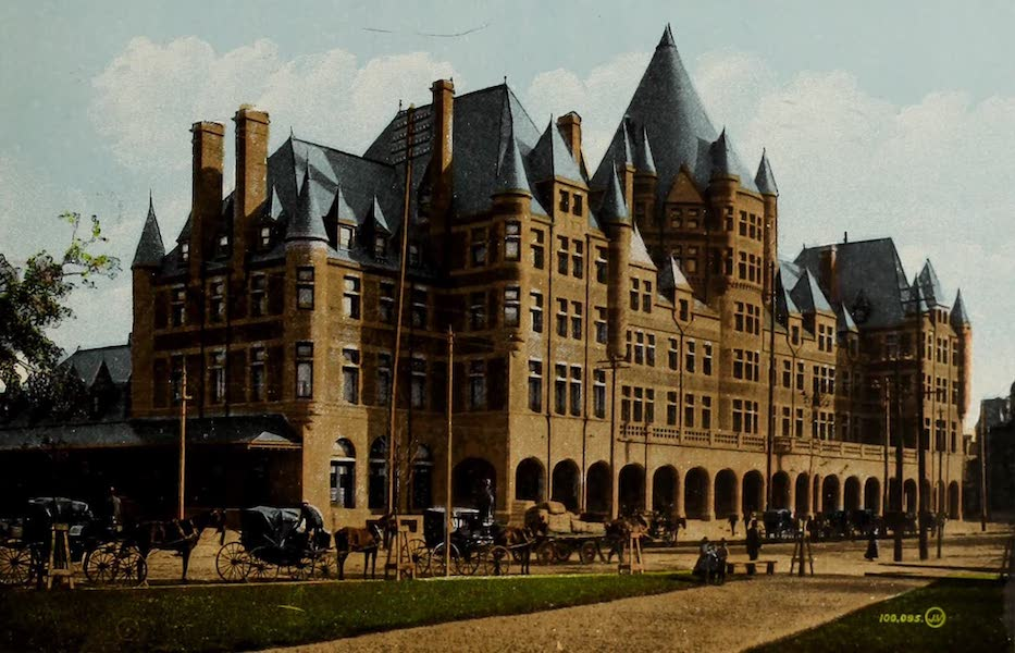 Souvenir of Montreal - Place Viger, C.P.R. Hotel and Station (1910)