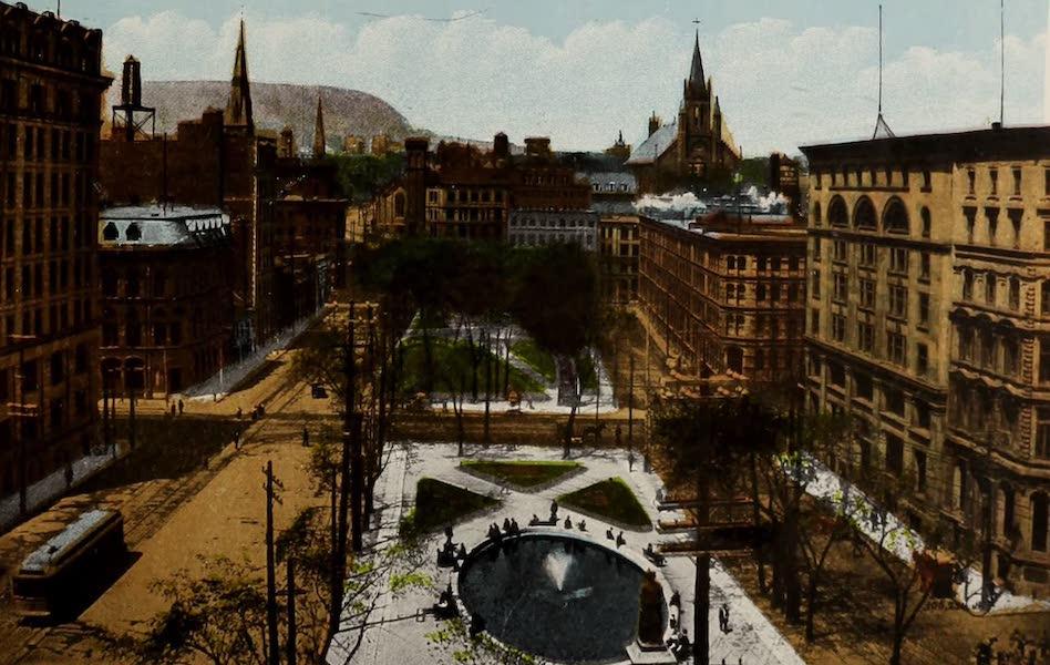 Souvenir of Montreal - Victoria Square (1910)