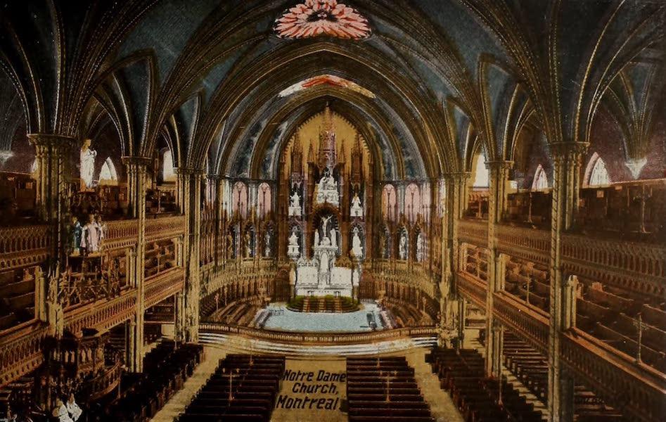 Souvenir of Montreal - Interior, Notre Dame Church (1910)
