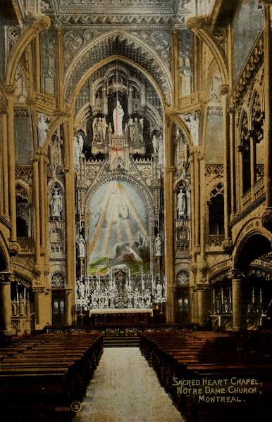 Souvenir of Montreal - Sacred Heart Chapel, Notre Dame Church (1910)