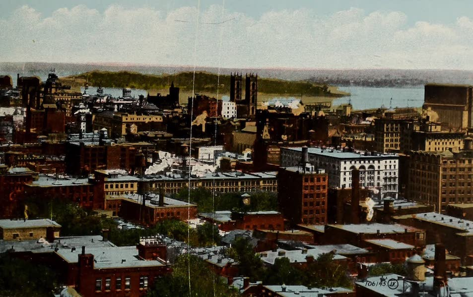 Souvenir of Montreal - General View of Downtown District (1910)