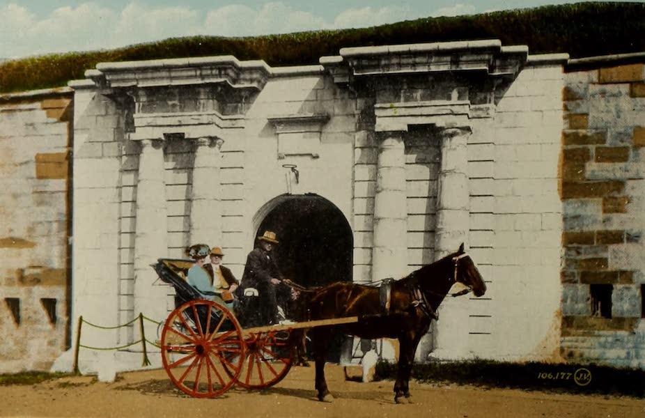 Souvenir of Quebec - Caleche at Citadel Entrance (1910)