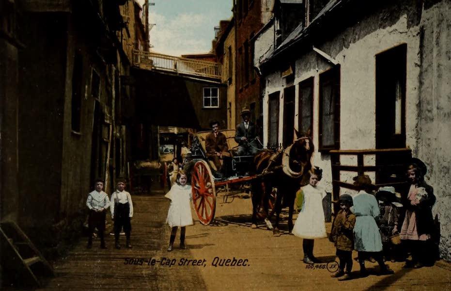 Souvenir of Quebec - Sous-le-Cap Street (1910)