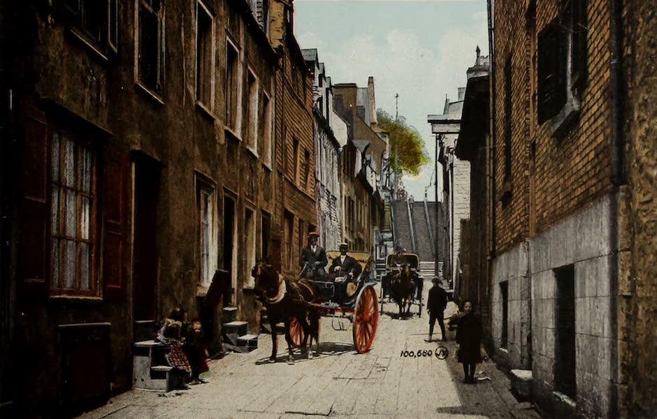 Souvenir of Quebec - Little Champlain Street and Breakneck Steps (1910)