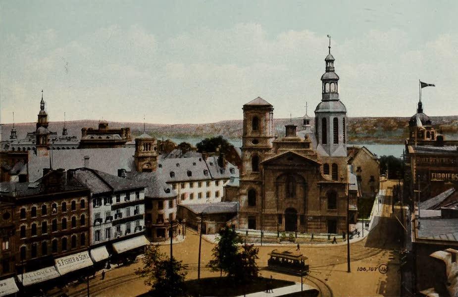Souvenir of Quebec - The Basilica and City Hall Square (1910)