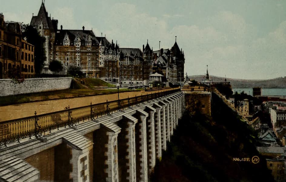Souvenir of Quebec - Chateau Frontenac and Dufferin Terrace (1910)