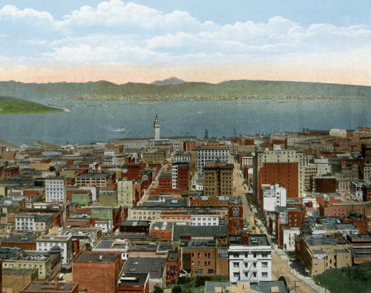 Souvenir of San Francisco, California - Birds Eye View of City (1914)