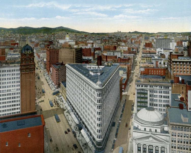 Souvenir of San Francisco, California - Birds Eye View from Call Building (1914)