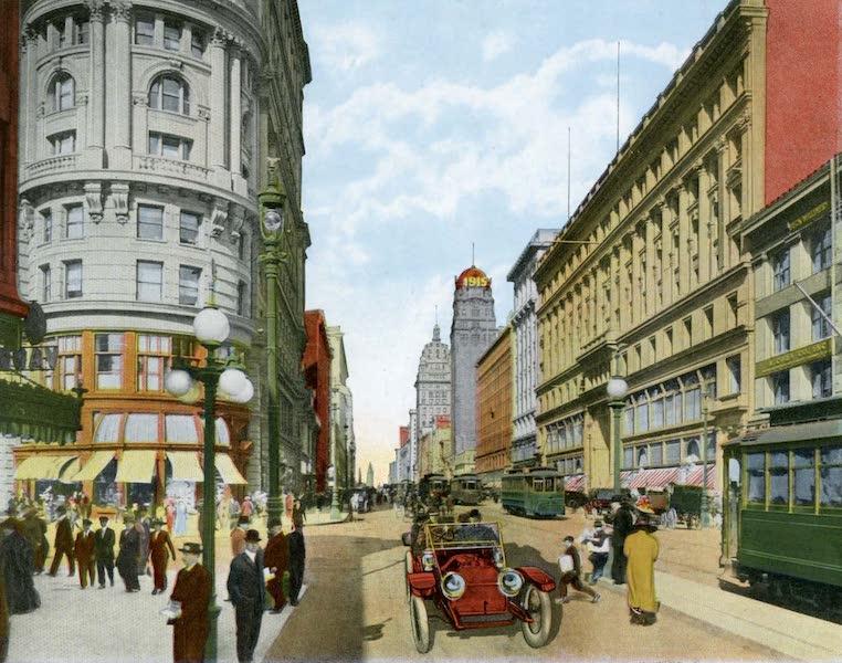 Souvenir of San Francisco, California - Market Street Looking East from Powell Street (1914)