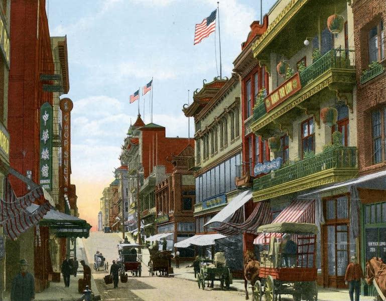 Souvenir of San Francisco, California - Street Scene in Chinatown (1914)