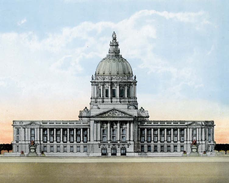 Souvenir of San Francisco, California - The City Hall (1914)