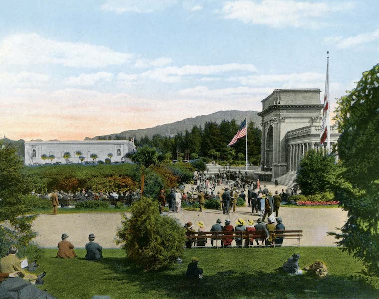 Souvenir of San Francisco, California - Music Strand and Academy of Science Museum Golden Gate Park (1914)
