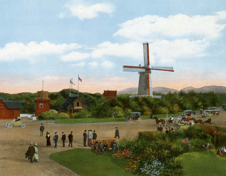 Souvenir of San Francisco, California - estern Entrance to Golden Gate Park Showing Life Saving Station and Dutch Windmill (1914)