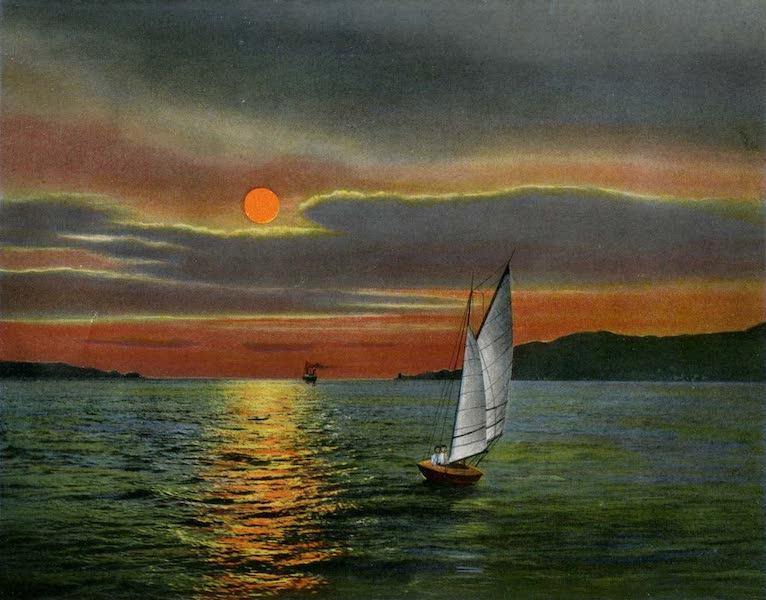 Souvenir of San Francisco, California - Golden Gate at Sunset (1914)