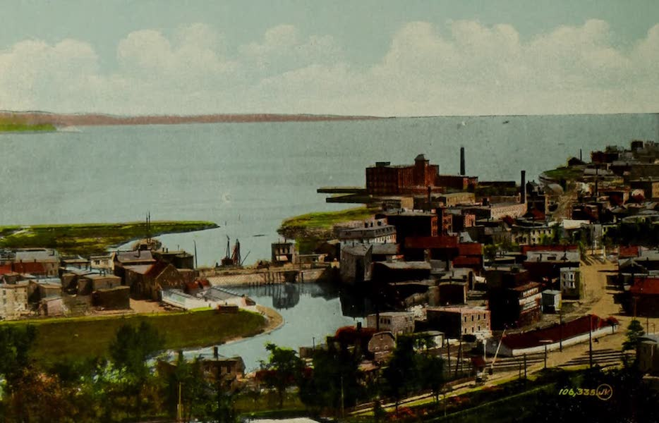 Souvenir of St. John N.B. - View from Rockwood Park showing Courtney Bay (1910)