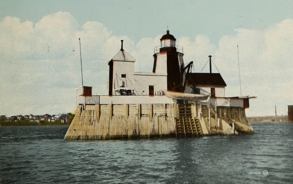 Souvenir of St. John N.B. - Beacon Light in Harbor (1910)