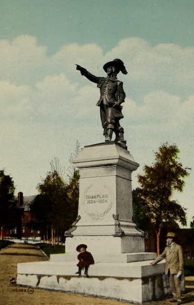Souvenir of St. John N.B. - Champlain Monument in Queen Square (1910)