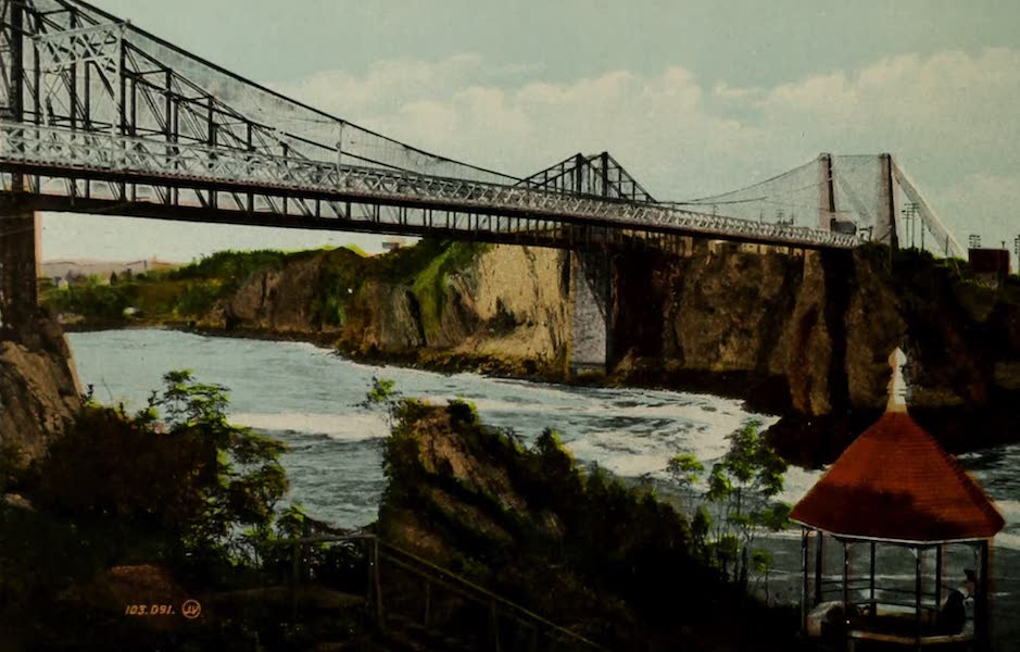 Souvenir of St. John N.B. - Bridge and Falls : Tide running down (1910)
