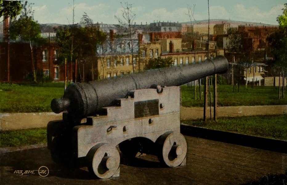 Souvenir of St. John N.B. - Old Historic Cannon in Queen Square (1910)