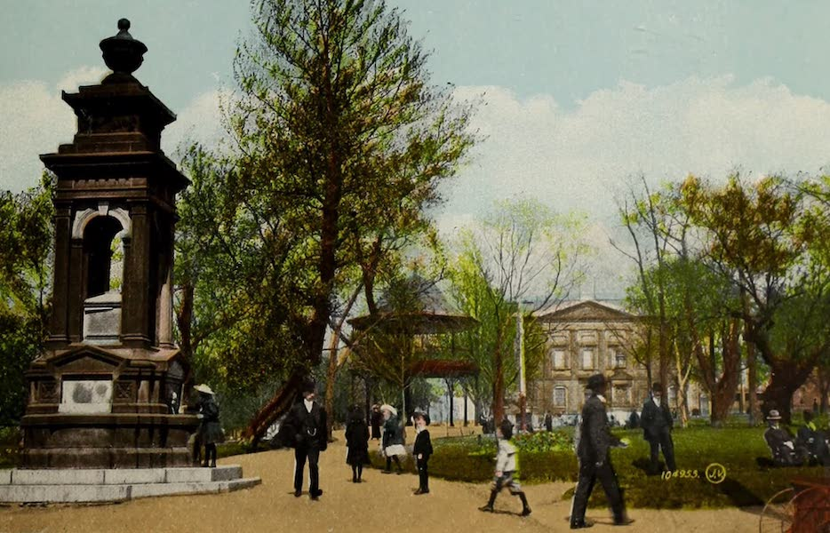 Souvenir of St. John N.B. - King Square and Band Stand from Head of King Street (1910)