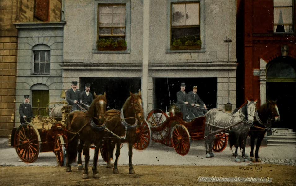 Souvenir of St. John N.B. - Fire Station (1910)