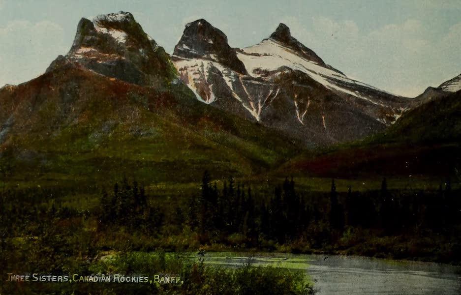Souvenir of the Rockies [Canadian Rockies] - Three Sisters, Banff (1910)